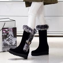 High Quality Autumn Winter Women Mid Calf Snow Boots Platform Woman Short Boots Ladies Shoes botas Plus Size 34 – 40 41 42 43