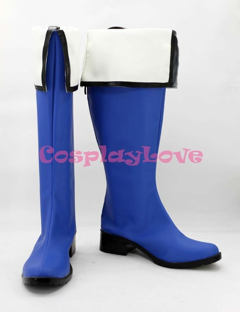 Custom Made Kyokai no Kanata Nase Mitsuki Blue Cosplay Shoes Boots Color  Hand Made For Halloween
