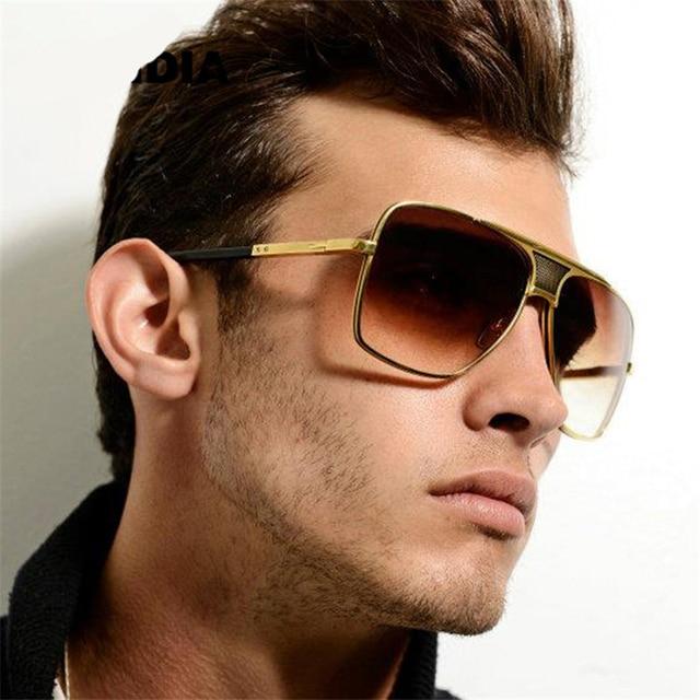 570ff18fc53 HapiGOO Men Vintage Oversized Sunglasses 2016 New Fashion Man Brand  Designer Big Metal Frame Square Sunglasses for Women Eyewear