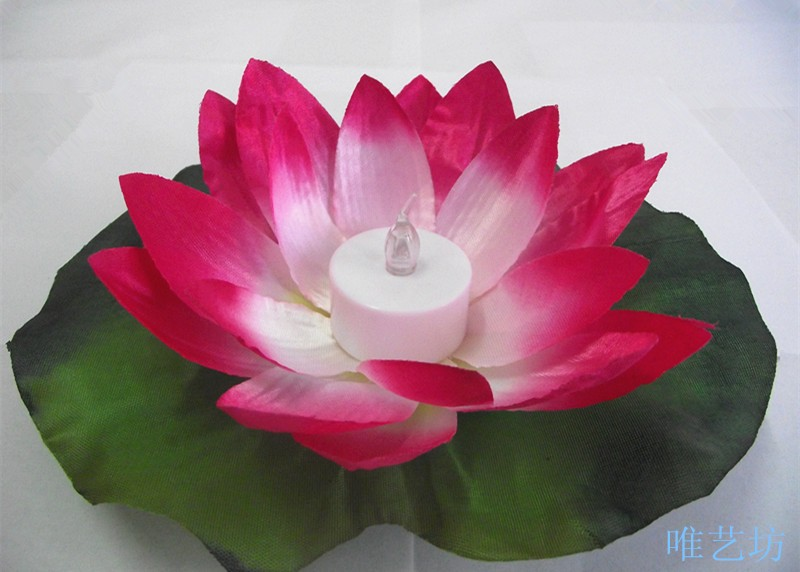 LED Colorful Changed Artificial Lotus Flower Lamp Floating Water Flower  Swimming Pool Wishing Light Lamps Lanterns Party Supply In Artificial U0026  Dried ...