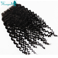 "Unprocessed 6A Peruvian Kinky Curly Virgin Hair Silk Base Closure Free Or Middle Part 10""-20"" Available Free Shipping By DHL"