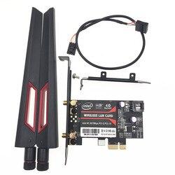 Với AC88U 8Dbi Ăng Ten Bộ Máy Tính Để Bàn Thẻ PCI-E cho Intel 8265 8260 Dual Band 802.11ac Bluetooth 4.0