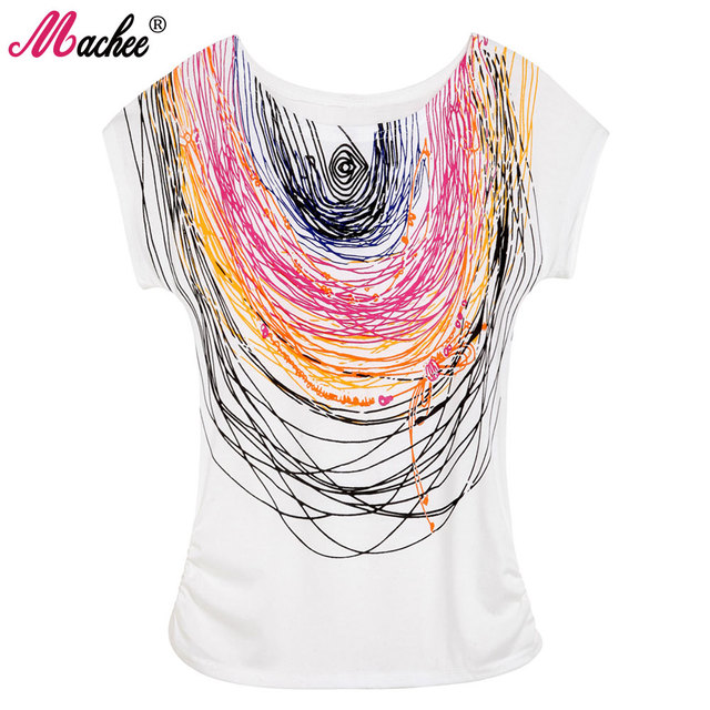 Top Selling Womens Clothes 2017 Femininas Casual Printed Cotton Vintage Short-sleeve Elastic Brand Women T-shirt Tops for Women
