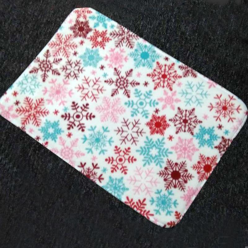 SUGOO Christmas Snowflower Bathroom mat Anti Slip Door Mat Printed ...
