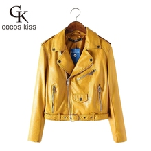 Здесь можно купить   2016 Mujer fashion Women Leather Jacket And The Wind Zipper Bright New Ladies Leather Coat Jacket Women Women