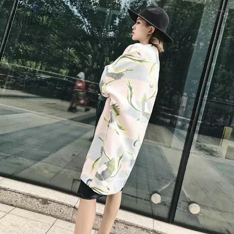 Pic Impression Pardessus Automne 2018 Cascade Avant Ouvert Femmes Asc Long Printemps Cardigan Manteau Femelle Bqv8OnSqE