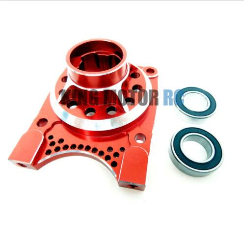 King Motor X2 CNC Aluminum Vented Clutch Housing (red) Fit LOSI 5IVE T Rovan LT billet rear hub carriers for losi 5ive t
