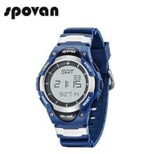 SPOVAN męski sportowy cyfrowy zegarek moda 100M wodoodporny odkryty alarm elektroniczny stoper zegarki dla dzieci chłopiec prezenty SW01