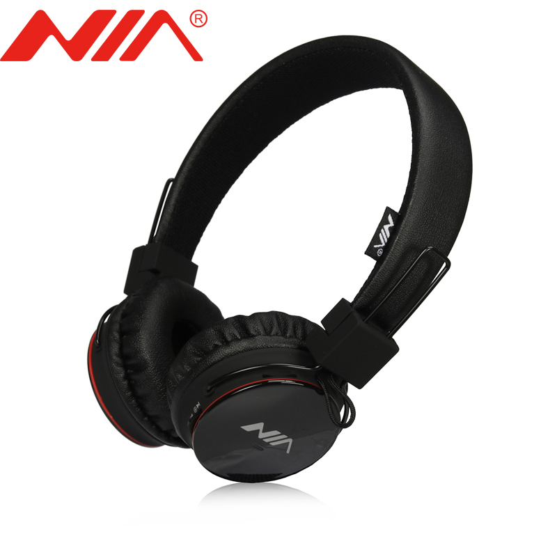 Original NIA 1682S Stereo Headsets Free Shipping Foldable Sport Headphones TF Card FM Radio Earphone original nia 8001 wireless stereo headsets fone de ouvido foldable sport headphones with mic tf card fm radio earphone