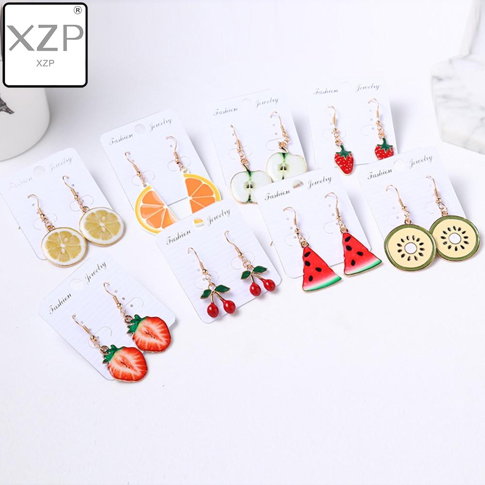 XZP Leopard Print Multi-Color Acrylic Acetic Acid Drop Earrings For Women Girl Personality Simple Geometric Pendant Earrings