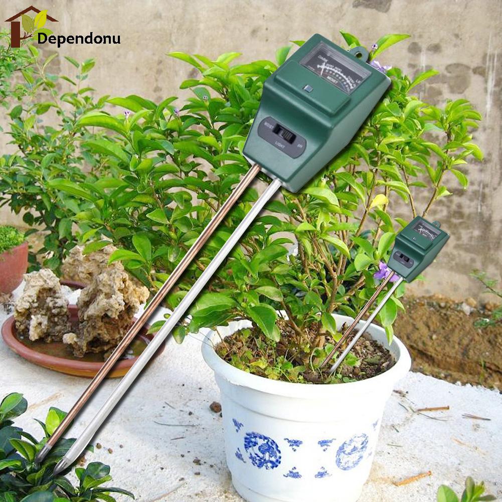 Digitális PH mérő, 3 in1 virág növényi talajvíz nedvességtartalmú fénymérője kerti növények virágkészletének hidroponikus elemzőjéhez