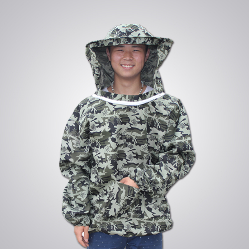 Anti bee suit anti bee clothing protective clothing coverall body sleeve head bee preventing cap.