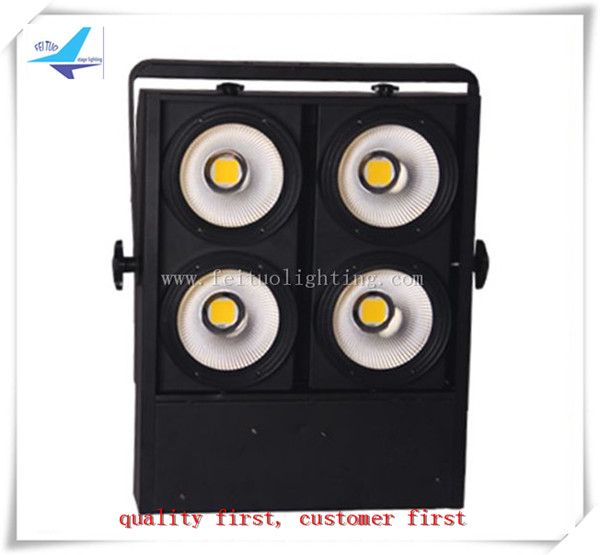 Free shipping 4 eyes 4X100w cool white or warm white cob led audience blinder light dmx stage auto sound control lighting