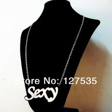 latest fashion women jewelry accessories cheap alphabet big letter sexy statement necklace(China)