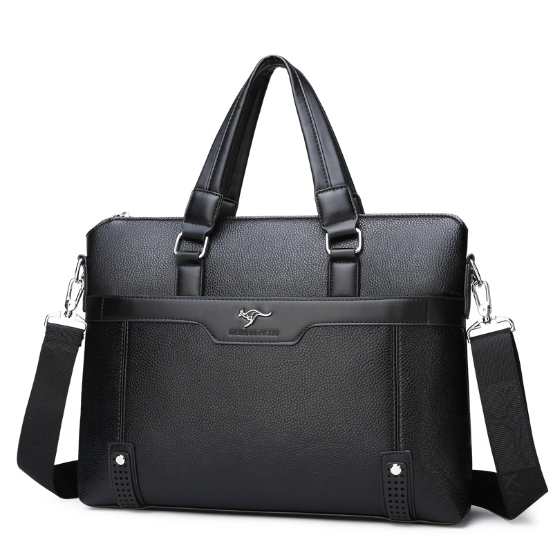 Men's Briefcase Tote Computer-Bag Business Casual Luxury New Boy Male Fashion Brand