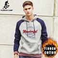 Pioneer Camp brand hoodies men top quality 100% cotton thick warm hoodie male fashion fleece hoodie hoodies sweatshirt 622122