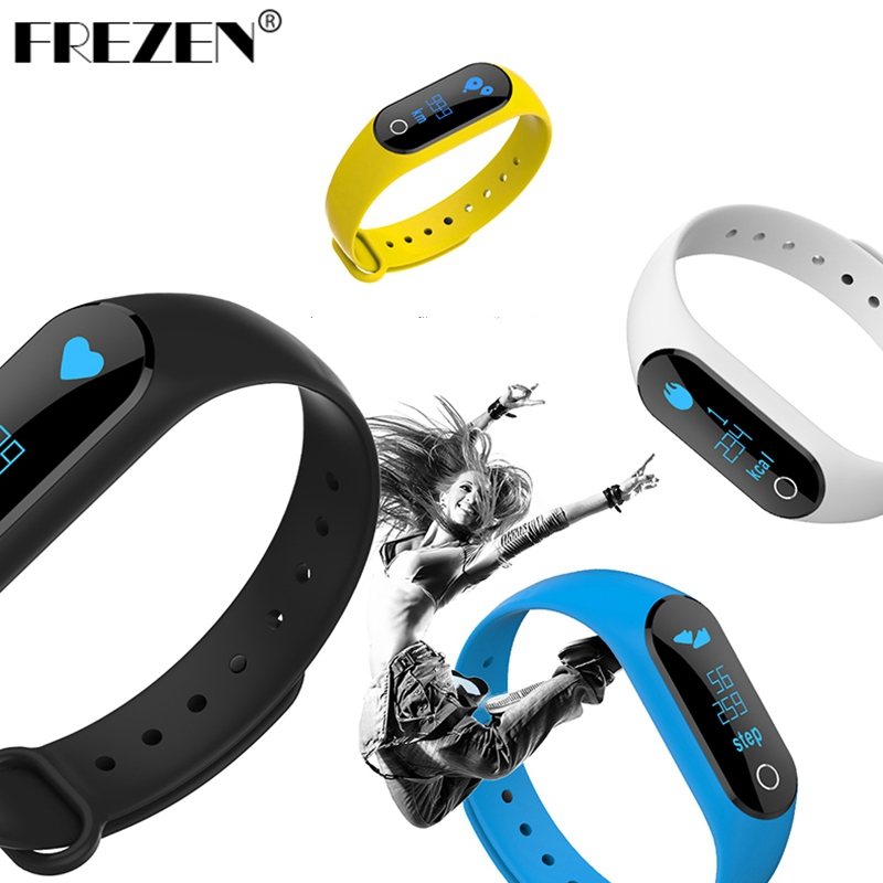 FREZEN SmartWristband M6S OLED display Heart Rate Monitor Smartband Bracelet Health Fitness Tracker For Android iOS