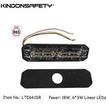 50 шт! ECE R65 одобренный 18 Вт линейный 6 светодиодный стробоскоп светильник/Автомобильный предупреждающий светильник/Varningsljus/светодиодный flitser/strobelys