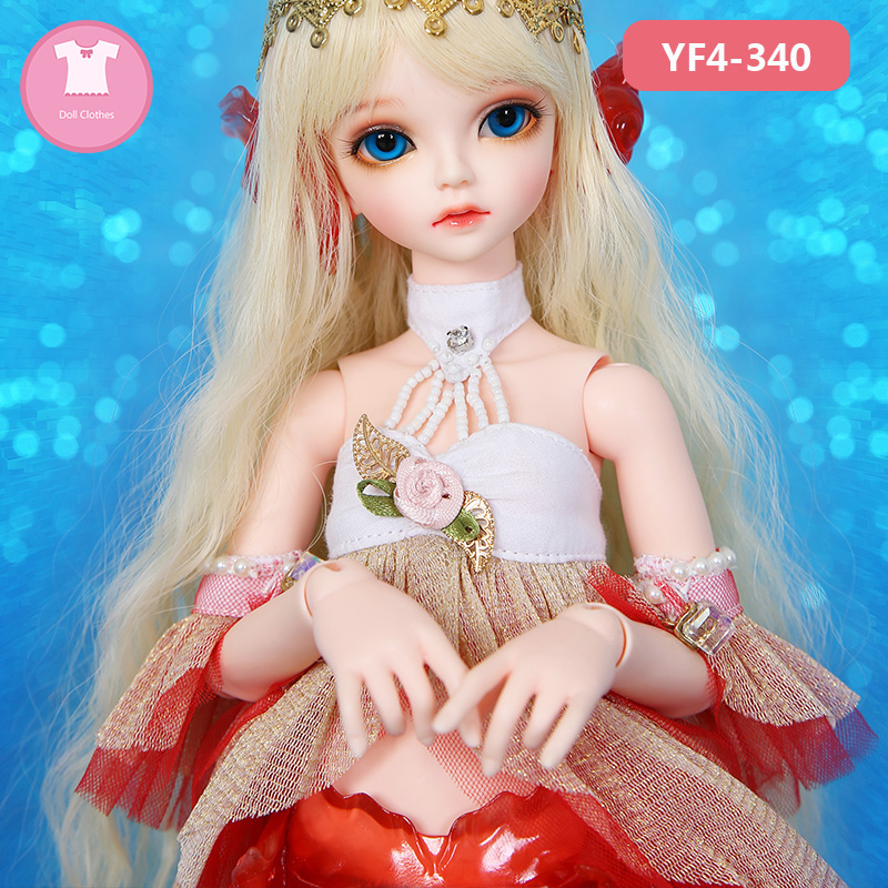 Clothes For BJD Doll Clothes 1/4 Beautiful Fashion Mini toys Doll YF4-340 For Serin Rico girl Body Doll accessories serin