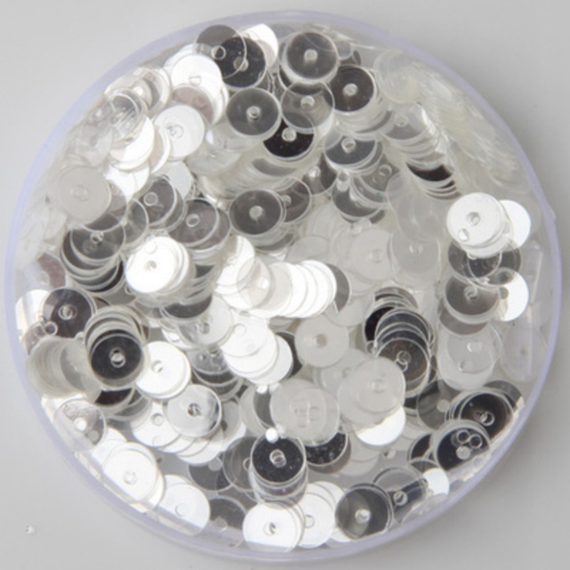 New 50g(5000pcs) 6mm wholesale Flat Round Loose Sequin Paillette Sewing 31c2ead45924