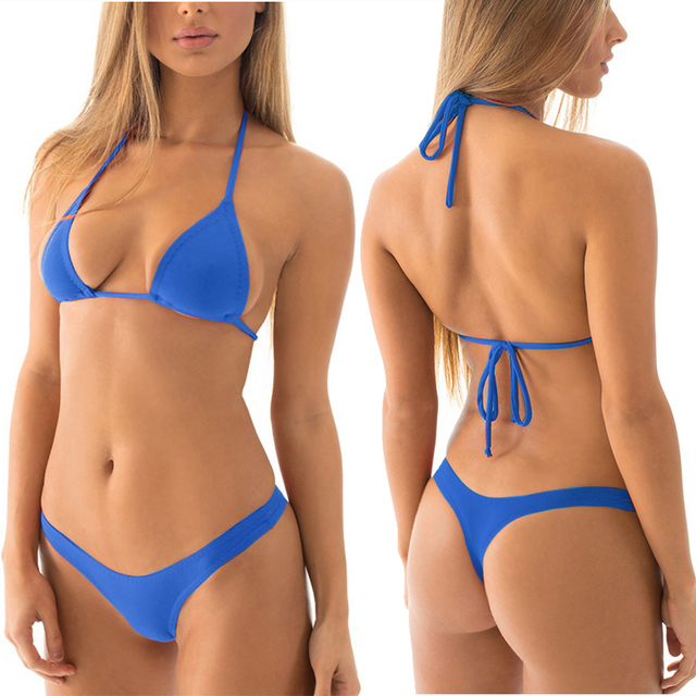 5ba309cc4769f U Shape Low Rising Thong Bikinis Women Cheeky T Back Bikini Bottom With  Triangle Top Swimwear