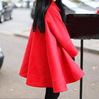 Autumn Winter Coat Women Elegant Vintage Woolen Coats Maxi Dress Wool Coat Long Jacket Female Parka
