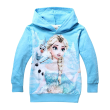 Retail New 2016 Baby girls Hoodies Elsa and Anna outerwear Children Long sleeve fashion t shirt Kids apparel Cartoon sweatshirts