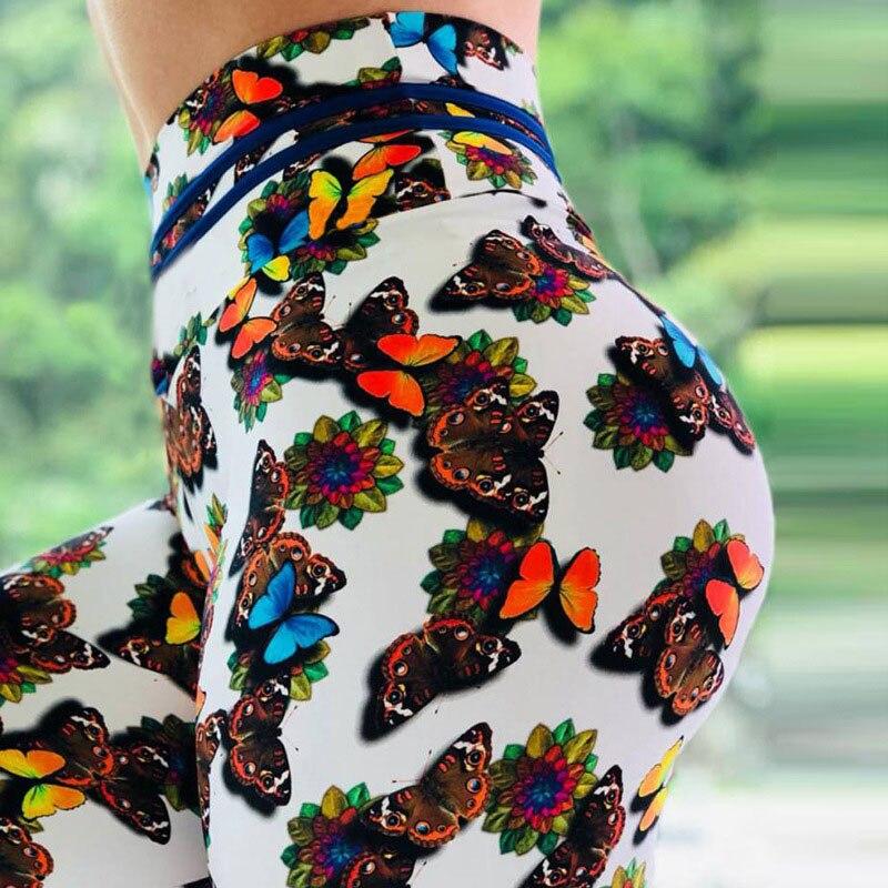 Wholesale New Fashion Women   leggings   3D Printed Color Leggins Mujer High Waist Fitness Pants For Woman Push Up Female   Leggings