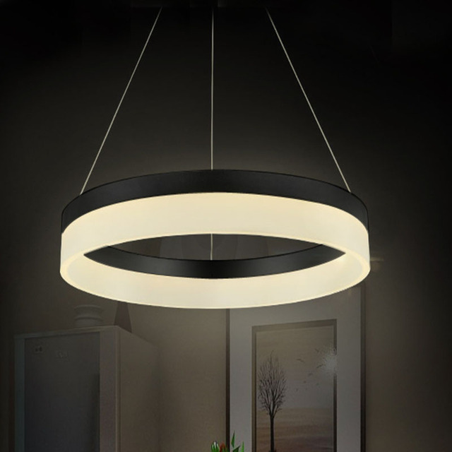 acheter luxe moderne led lustre lumi re lampe luminaire led cercle anneau lustre. Black Bedroom Furniture Sets. Home Design Ideas
