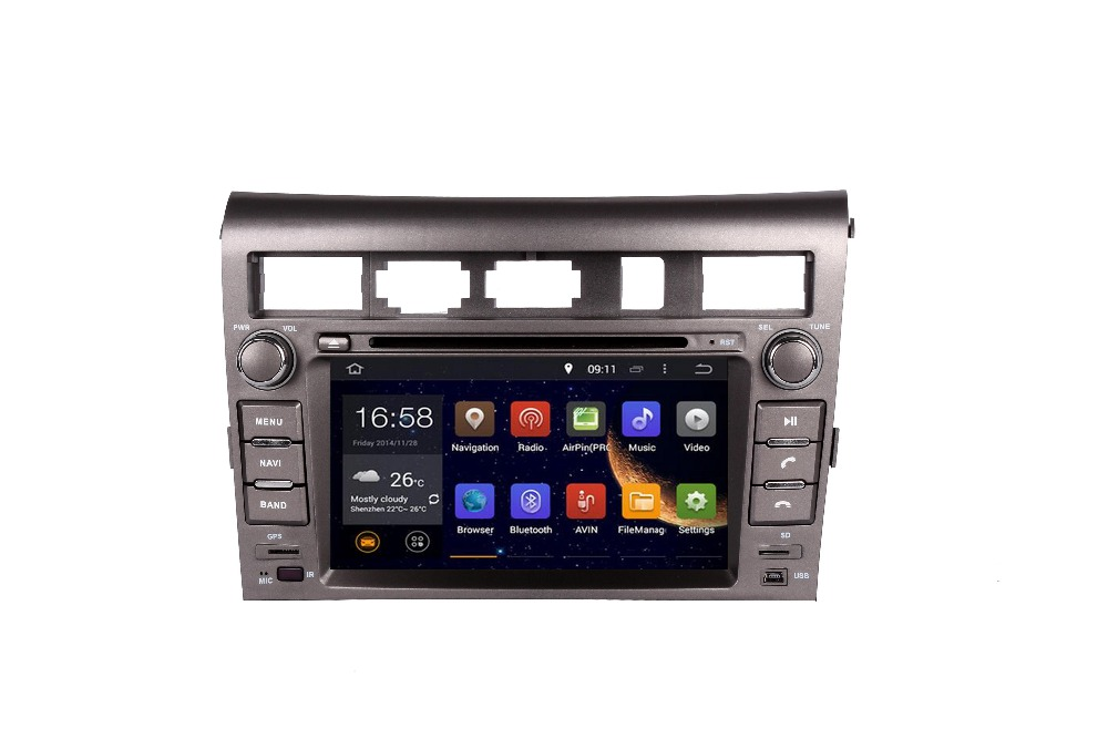 2DIN 7 INCH Android 1024*600 OCTA/Quad Core Fit KIA Opirus 2007-2016 2017Car DVD Player Multimedia GPS Navigation GPS Radio DVD image