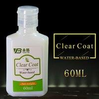 Прозрачное пальто на водной основе, прозрачный лак, защита золотых листьев, Разбавьте Грушевый порошок или блестящий порошок 60 мл