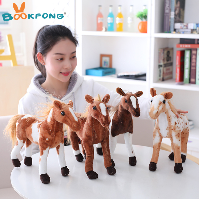 New Simulation Horse Plush Toy 4 Styles Stuffed Animal Dolls High Quality Classic Toys Kids Birthday Gift Home Decor Prop Toy