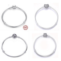 100 925 Standard Sterling Silver Charm Bracelet With Heart Class 4 3mm Charm Beads For Anniversary