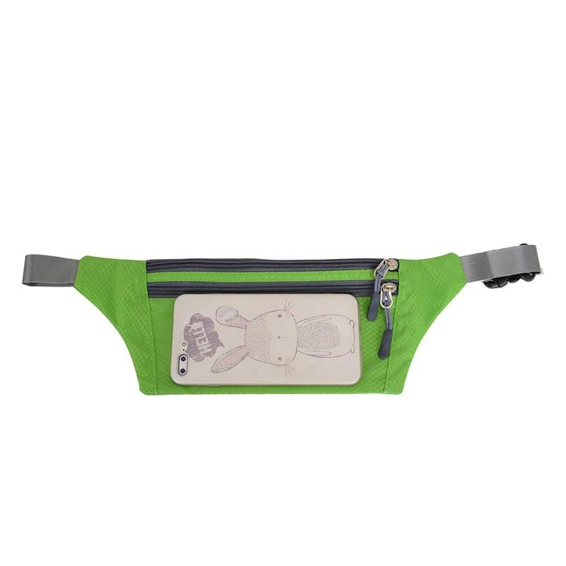 19 Color!! Small Running Outdoor Waist Bag Waterproof Nylon Unisex Sports Pack Lightweight For Phone Cash Keys Bag