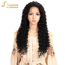 цена на Joedir Lace Front Human Hair Wigs Pre Plucked 28 30 Inch Wig Short Lace Front Human Hair Wigs Brazilian Deep Wave Lace Front Wig