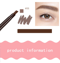 1PC Long Lasting Paint Eyebrow Pencil with Brow Brush Waterproof Black Brown Automatic Eyebrow Tint Makeup Tool