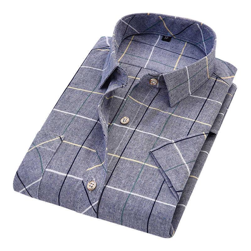 DAVYDAISY 2019 Новое поступление летние мужские рубашки мужские классические клетчатые рубашки с коротким рукавом модные повседневные мужские рубашки camisa masculina DS241