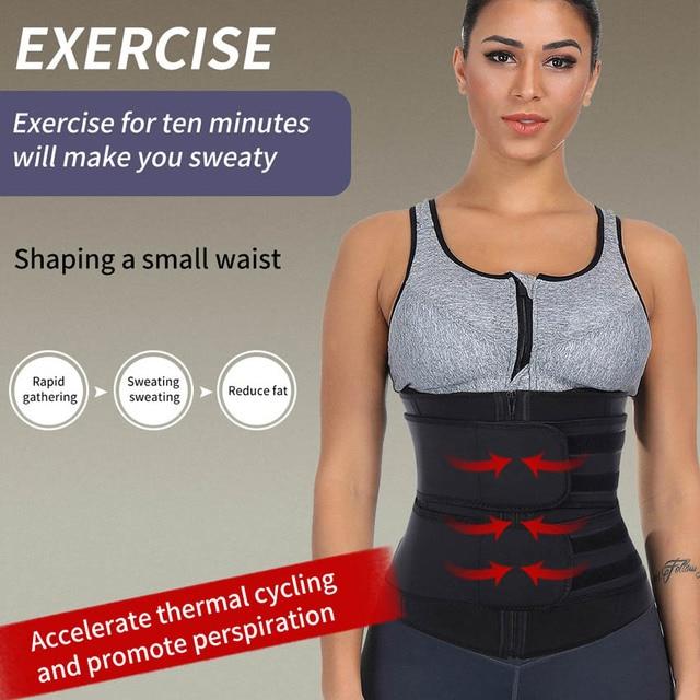 Neoprene Waist Trainer Body Shaper Slimming Wrap Belt Sauna Waist Trainer Cincher Corset Fitness Sweat Belt Girdle Shapewear 2