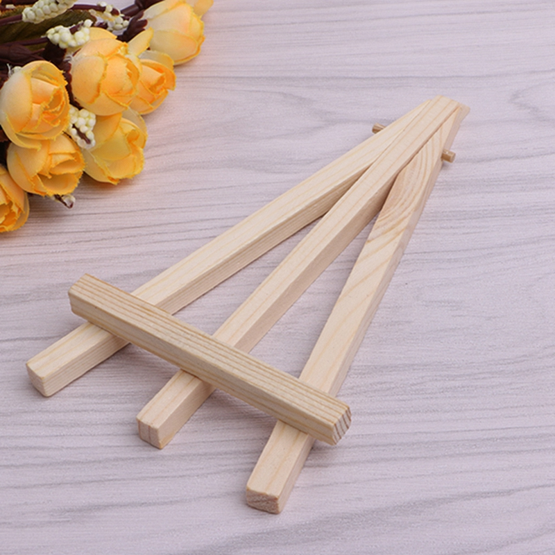 10pcs Set Mini Wooden Easel Display Painting Stand Card