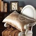 100% Mulberry Seide Bettwäsche Kissen/Luxus Rose Gold Natur Kopf Sleepping Kissen Füllung Material Europäischen Stil Freies Schiff
