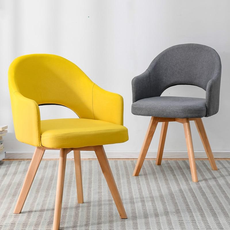 Simple Minimalist Dining Set: Modern Minimalist Lazy Home Solid Wood Chair Restaurant
