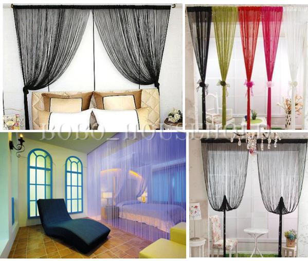 1m x 2m window fringe wall panel room divider strip tassel for Fenetre 2m x 1m