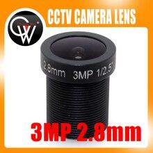 HD 3MP 2.8mm HD CCTV Camera Lens 3.0 Megapixel IR HD Security Camera Lens Fixed Iris fit ip camera