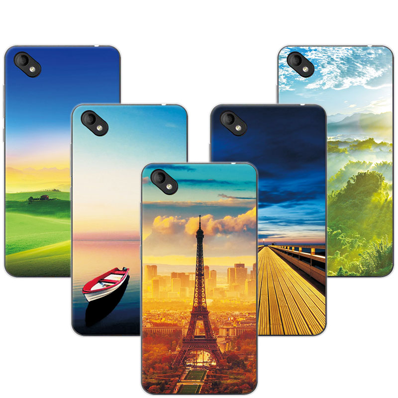 Exotic Case For BQ 5035 5.0 Case Cover Soft Silicone Painting Cover For BQ BQ-5035 Shell Capa 5.0 Shell Fundas Coque+Gift
