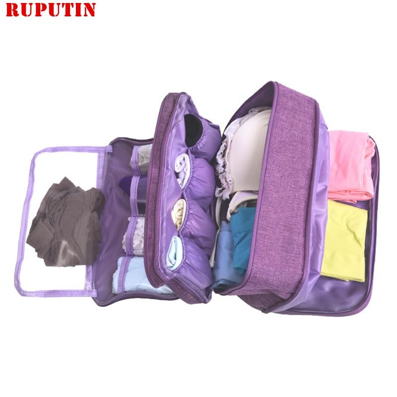 RUPUTIN Portable Bra Underwear Socks Bag Waterproof Travel Cosmetic Cases Large Capacity Makeup Organizer Clothes Finishing Bags