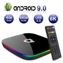 6K Android 9.0 TV, pudełko Q Plus 4GB RAM 32GB/64GB ROM 2.4GHz pudełko WiFi IPTV dekoder odtwarzacza multimedialnego domowy odtwarzacz multimedialny obsługa filmów 3D Ultra HD