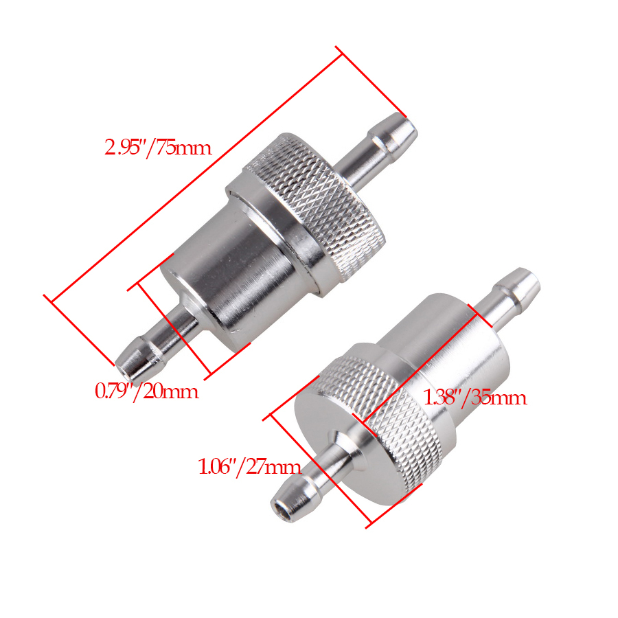 hight resolution of 10pcs top quality 1 4 6mm aluminium atv inline fuel filter for motorcycle