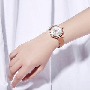 Image 5 - NAVIFORCE zegarki damskie Top Luxury Brand zegarek kwarcowy Lady Fashion zegarek ze skórzanym paskiem wodoodporny data dziewczyna zegarek prezent dla żony