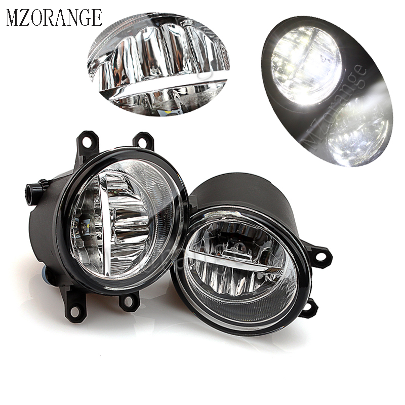 MZORANGE 2pcs Fog Light Fog Lamp For <font><b>TOYOTA</b></font> AVENSIS <font><b>AURIS</b></font> RAV 4 III CAMRY FOR Corolla PRIUS YARIS 2003-2015 Led Fog Lights image