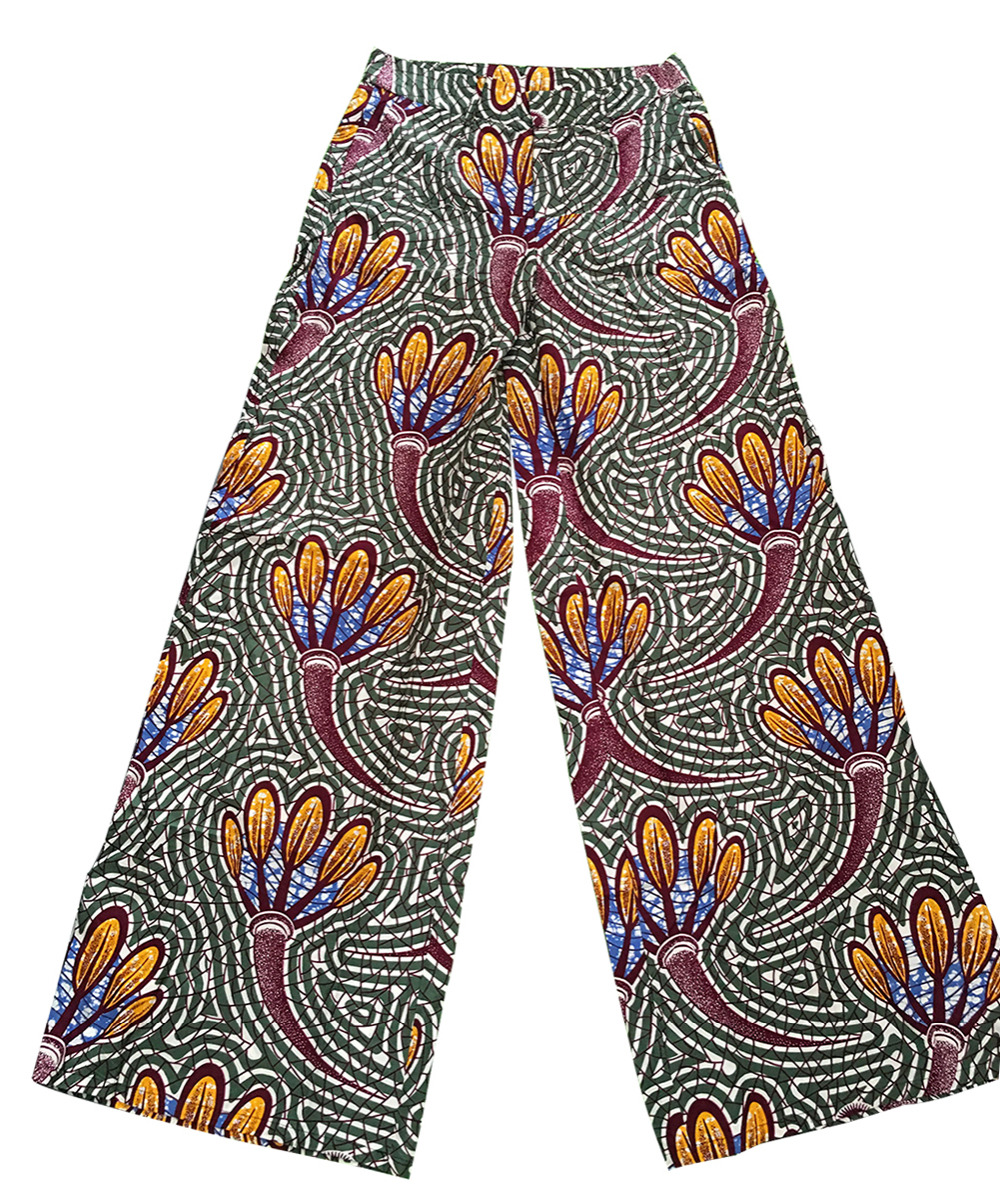 6434db77fce African Wax Print Cargo Pants Women Gothic Streetwear Wide Leg Pants  Trousers With Side Pockets-in Pants   Capris from Women s Clothing on  Aliexpress.com ...